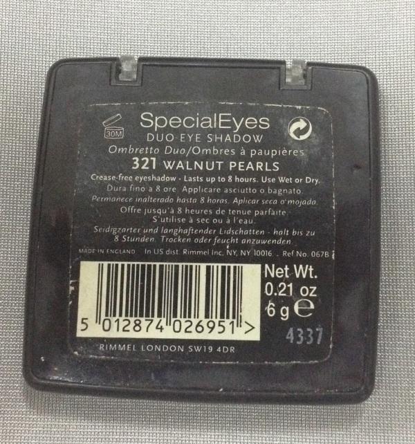 Rimmel SpecialEyes Duo Eye Shadow in 321 Walnut Pearls